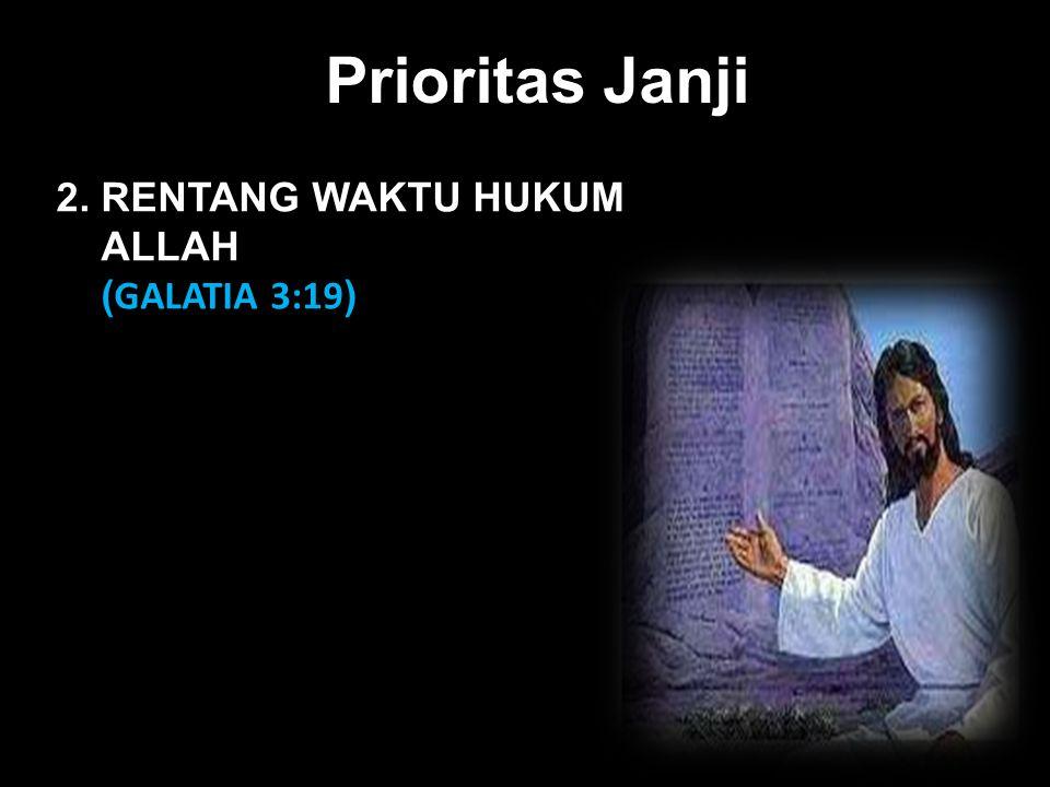 Black Prioritas Janji 2. RENTANG WAKTU HUKUM ALLAH ( GALATIA 3:19 )