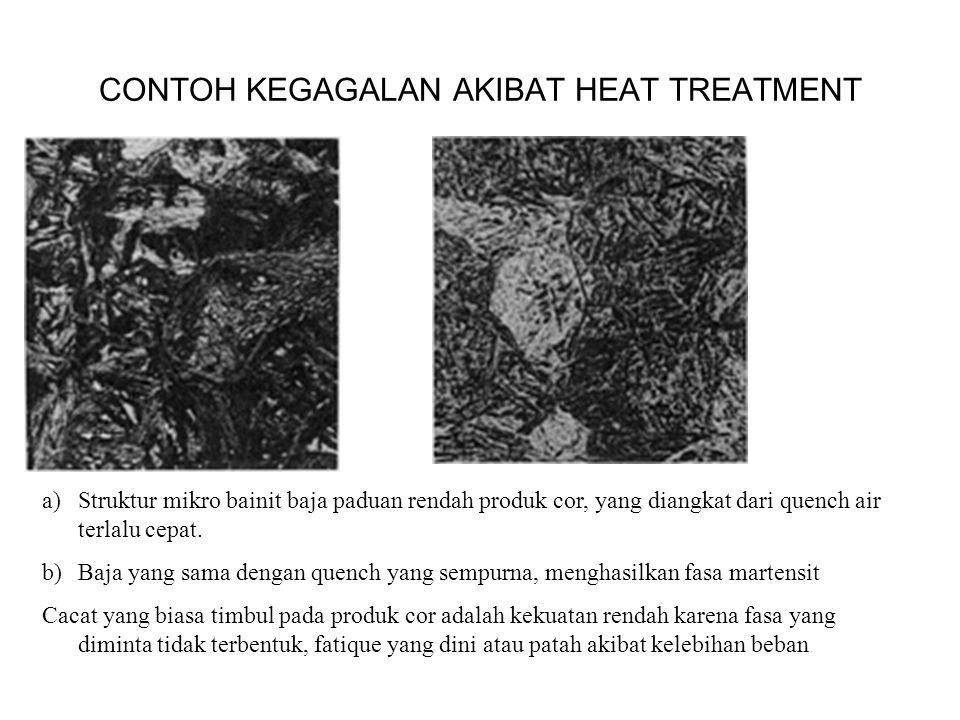a)Struktur mikro bainit baja paduan rendah produk cor, yang diangkat dari quench air terlalu cepat.