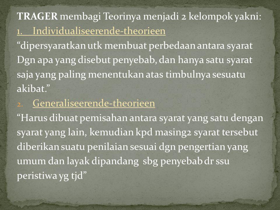TRAGER membagi Teorinya menjadi 2 kelompok yakni: 1.