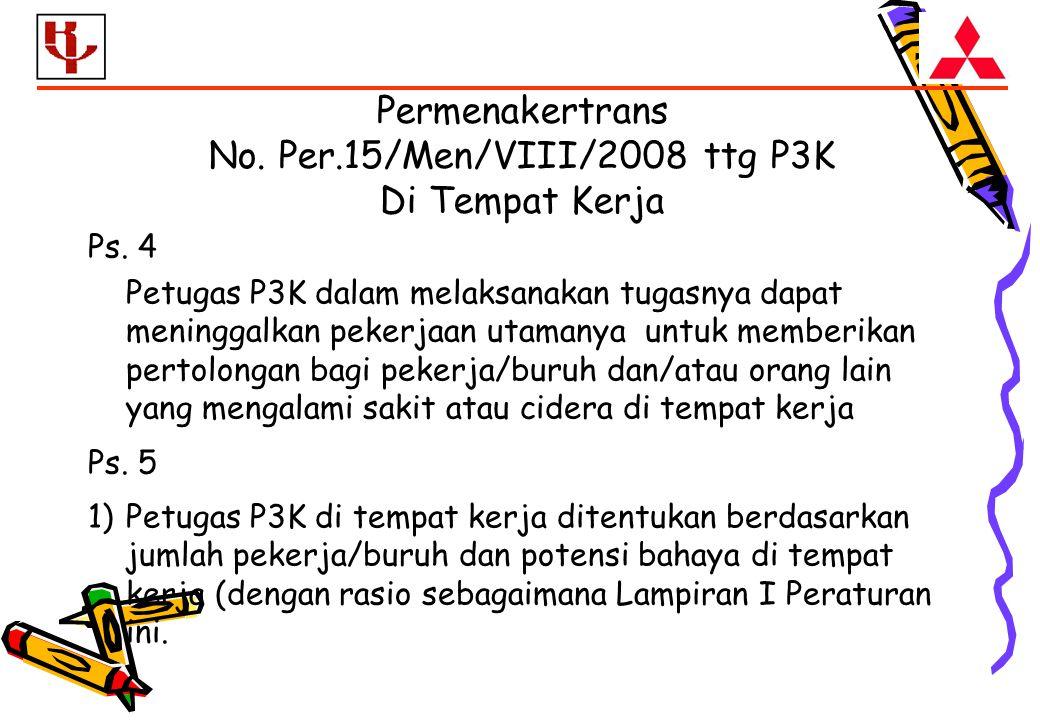 Ps. 4 Petugas P3K dalam melaksanakan tugasnya dapat meninggalkan pekerjaan utamanya untuk memberikan pertolongan bagi pekerja/buruh dan/atau orang lai
