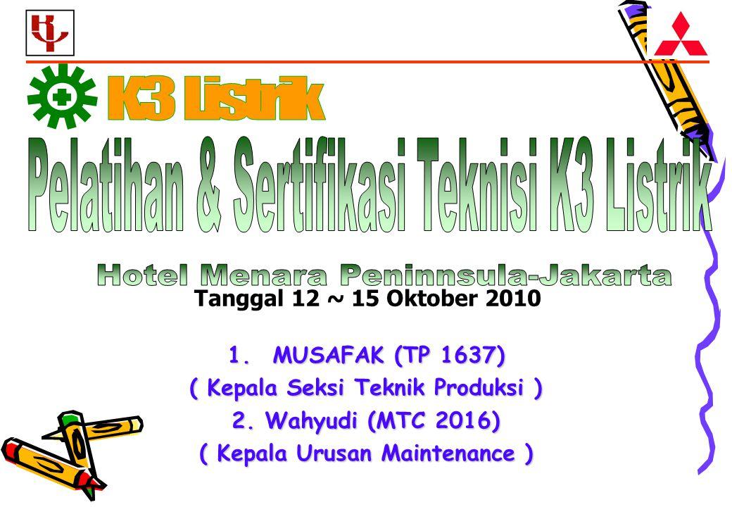 1.MUSAFAK (TP 1637) ( Kepala Seksi Teknik Produksi ) 2.