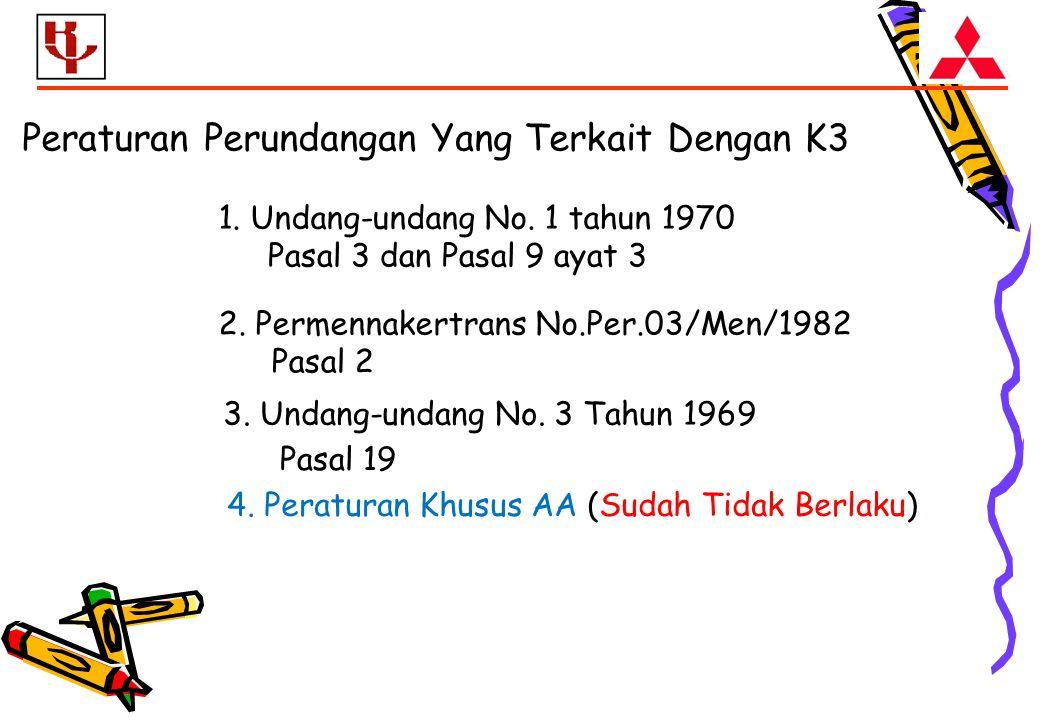 Peraturan Perundangan Yang Terkait Dengan K3 1.Undang-undang No.