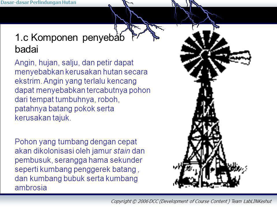 Dasar-dasar Perlindungan Hutan Copyright © 2006 DCC (Development of Course Content ) Team LabLINKeshut 2.