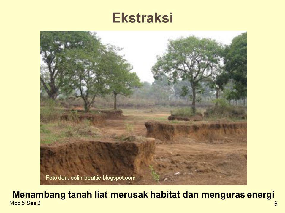 6 Mod 5 Ses 2 Ekstraksi / Menambang tanah liat merusak habitat dan menguras energi Foto dari: colin-beattie.blogspot.com