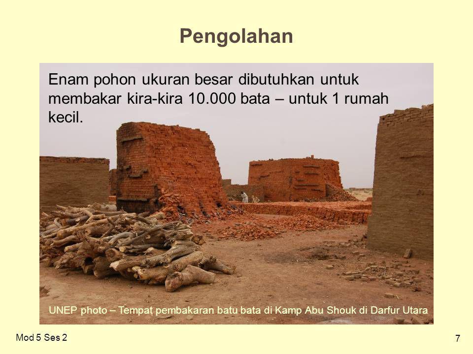 28 Mod 5 Ses 2 MANFAATKAN KEMBALI : Yang Bisa Diambil dari Puing Reruntuhan Foto UNEP– Akibat bencana tsunami di Indonesia