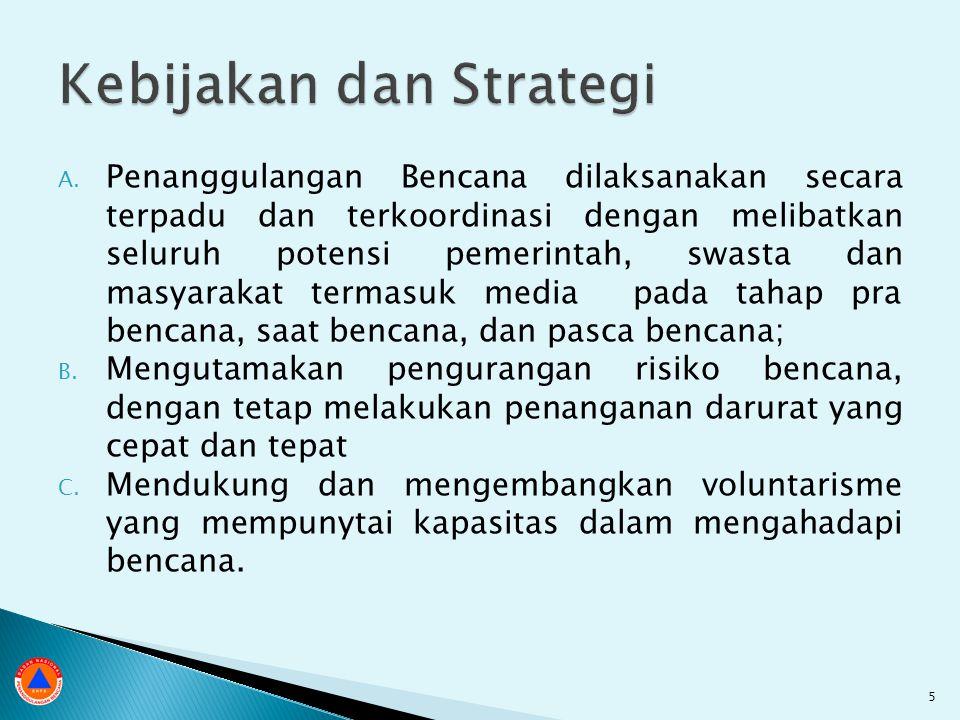 ◦ Indonesia Rawan Bencana ◦ Lebih kerap, lebih ganas, tidak ada tindakan radikal  Rendahnya Kinerja Penanganan Bencana ◦ Penanganan kedaruratan belum terpadu ◦ Pemulihan pasca bencana belum optimal ◦ Tatanan kelembagaan berorientasi kedaruratan  Rendahnya Perhatian Terhadap PB ◦ Rendahnya upaya pencegahan dan kesiapsiagaan ◦ Belum siapnya kinerja kelembagaan dalam PRB ◦ PRB belum terencana dan terprogram ◦ Rendahnya dayaguna rencana tata ruang dalam PRB  Upaya Pemulihan Belum Dioptimalkan ◦ Pemulihan belum digunakan secara strategis untuk PRB 26
