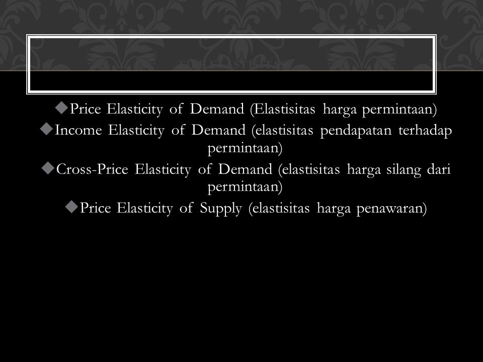 A B Demand P Q P1P1 P2P2 Q1Q1 Q2Q2 Price inelastic (ED <1 ) If  E D  < 1 then P Q and TR OQ 2 BP 2 < OQ 1 AP 1 0