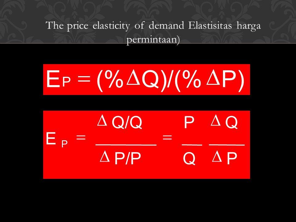  Perfectly Inelastic (E D = 0): Konsumen tidak berespon sempurna ( completely unresponsive ) terhadap berubahan harga.
