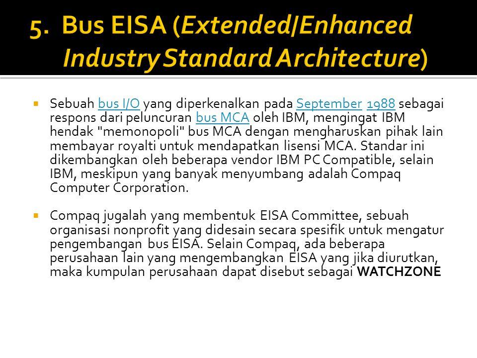  Sebuah bus I/O yang diperkenalkan pada September 1988 sebagai respons dari peluncuran bus MCA oleh IBM, mengingat IBM hendak memonopoli bus MCA dengan mengharuskan pihak lain membayar royalti untuk mendapatkan lisensi MCA.