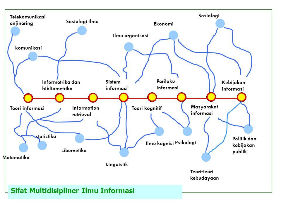 Teori informasi Informetrika dan bibliometrika Information retrieval Sistem informasi Teori kognitif Perilaku informasi Masyarakat informasi Kebijakan