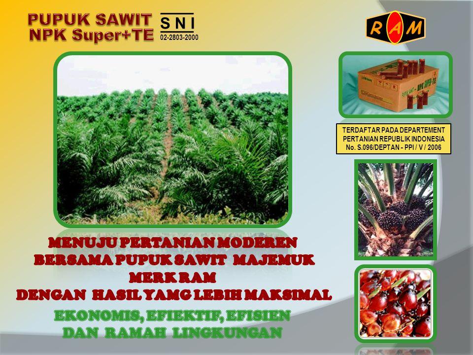 S N I 02-2803-2000 A R M TERDAFTAR PADA DEPARTEMENT PERTANIAN REPUBLIK INDONESIA No. S.096/DEPTAN - PPI / V / 2006
