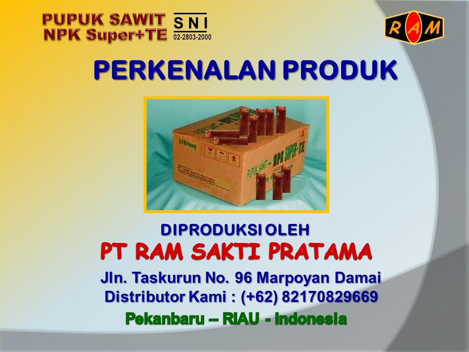 Pupuk Sawit NPK Super + TE adalah pupuk yang dapat meningkatkan kesuburan tanah dan sangat mudah diserap oleh tanaman sawit Mengandung hara lengkap dan seimbang ( Makro: primer & sekunder dan Mikro: esensial) sesuai kebutuhan sawit.