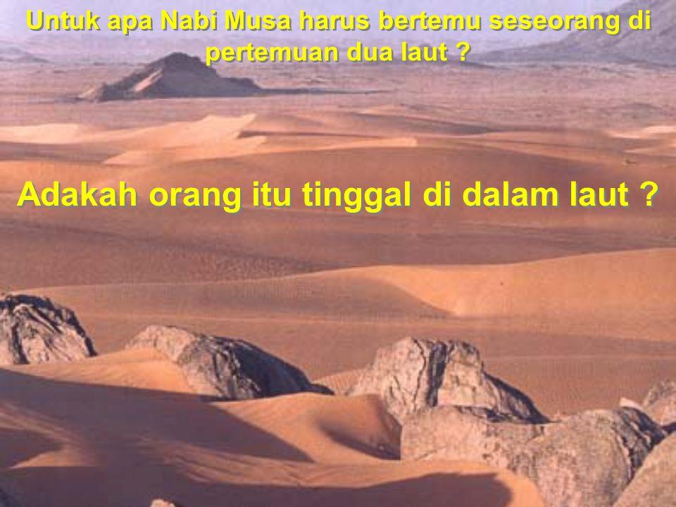 Untuk apa Nabi Musa harus bertemu seseorang di pertemuan dua laut ? Adakah orang itu tinggal di dalam laut ?