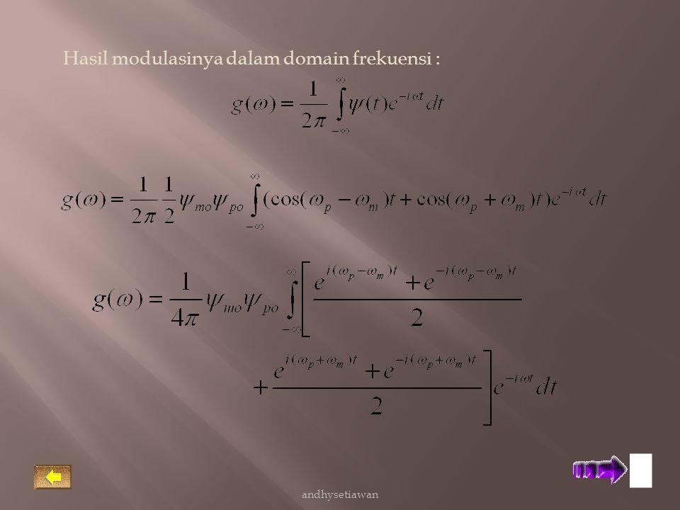 Hasil modulasinya dalam domain frekuensi : andhysetiawan