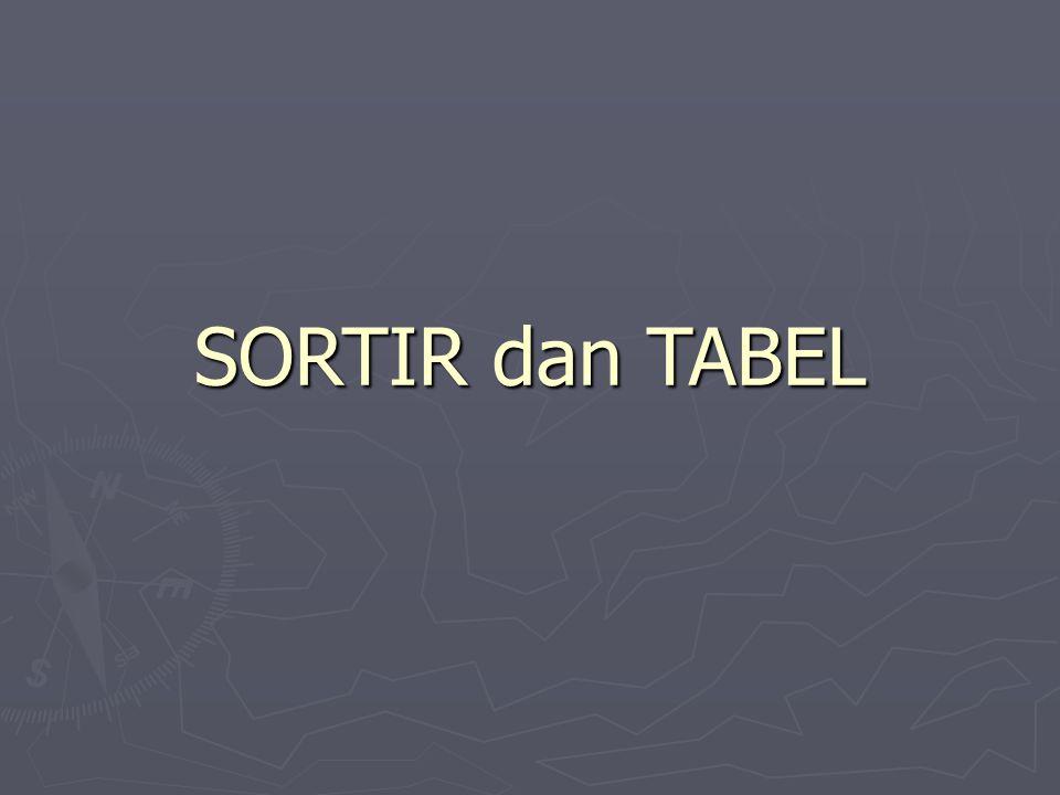MEMBUAT/ MENYISIPKAN TABEL Ada beberapa cara membuat/ menyisipkan tabel dalam Word for Windows : Pulldown menu Table, klik Insert Table.