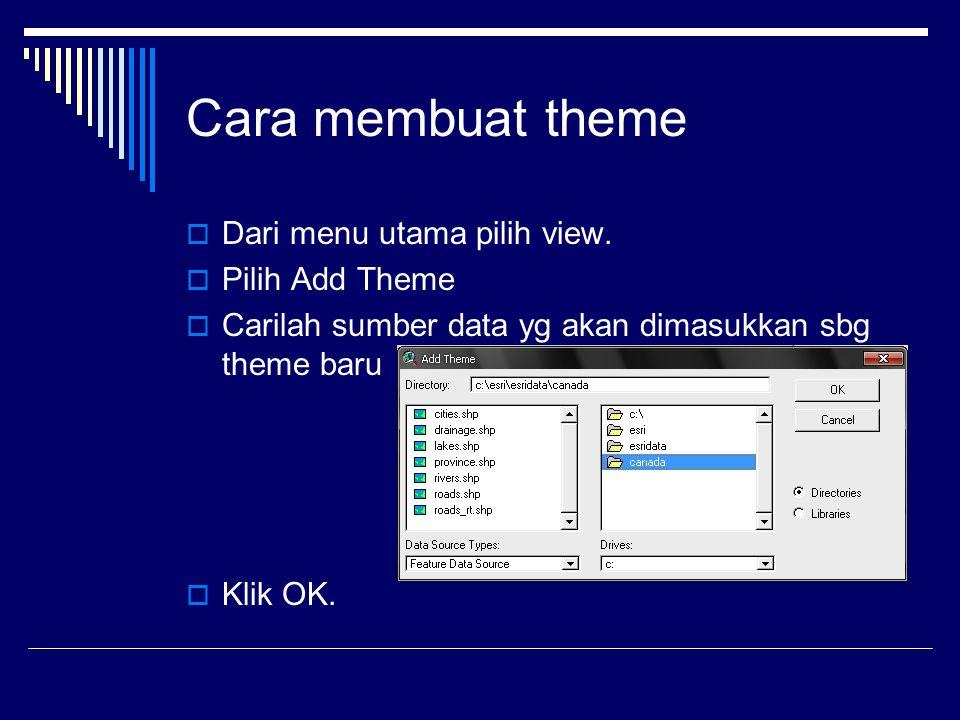 Cara membuat theme  Dari menu utama pilih view.