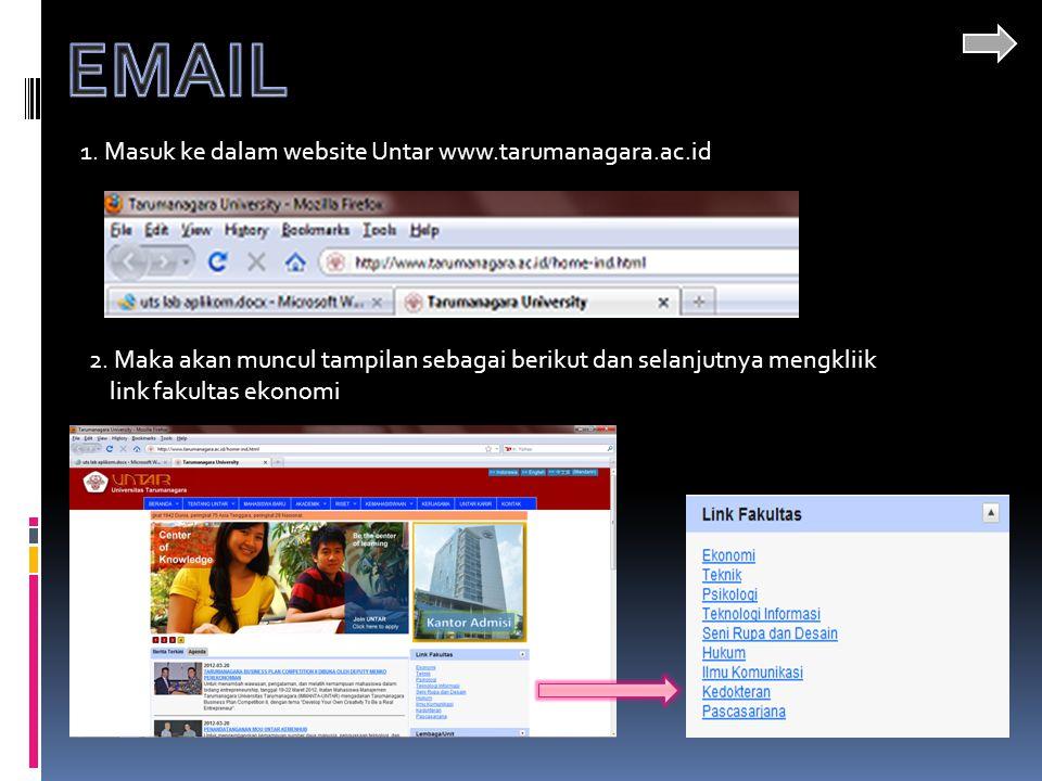 1.Masuk ke dalam website Untar www.tarumanagara.ac.id 2.