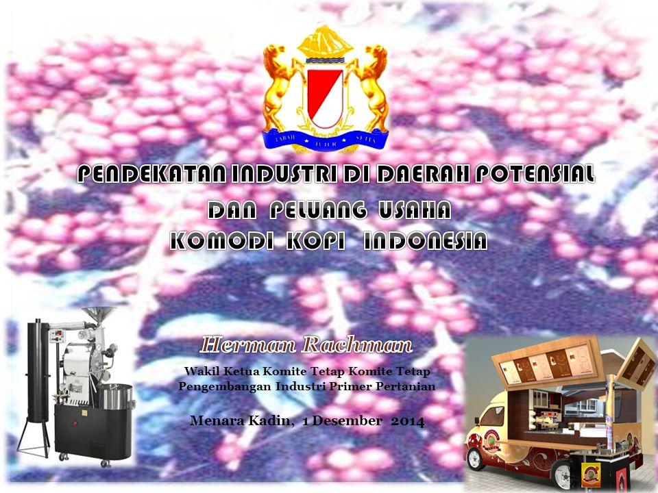 Wakil Ketua Komite Tetap Komite Tetap Pengembangan Industri Primer Pertanian Menara Kadin, 1 Desember 2014