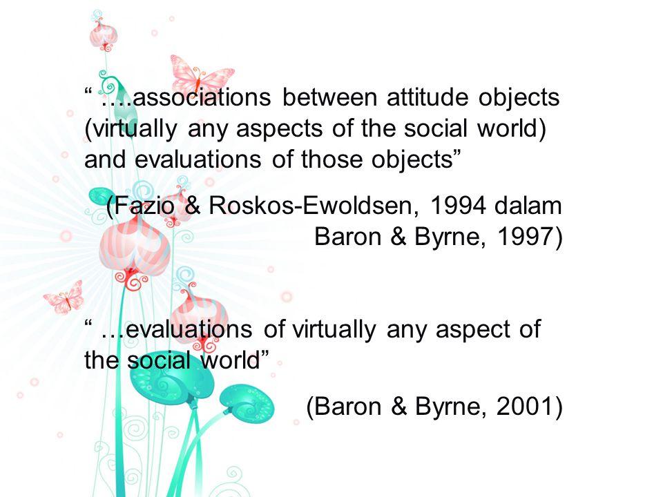 Komponen perilaku, terdiri dr kesiapan seseorang u/bereaksi atau kecenderungan u/bertindak thd obyek