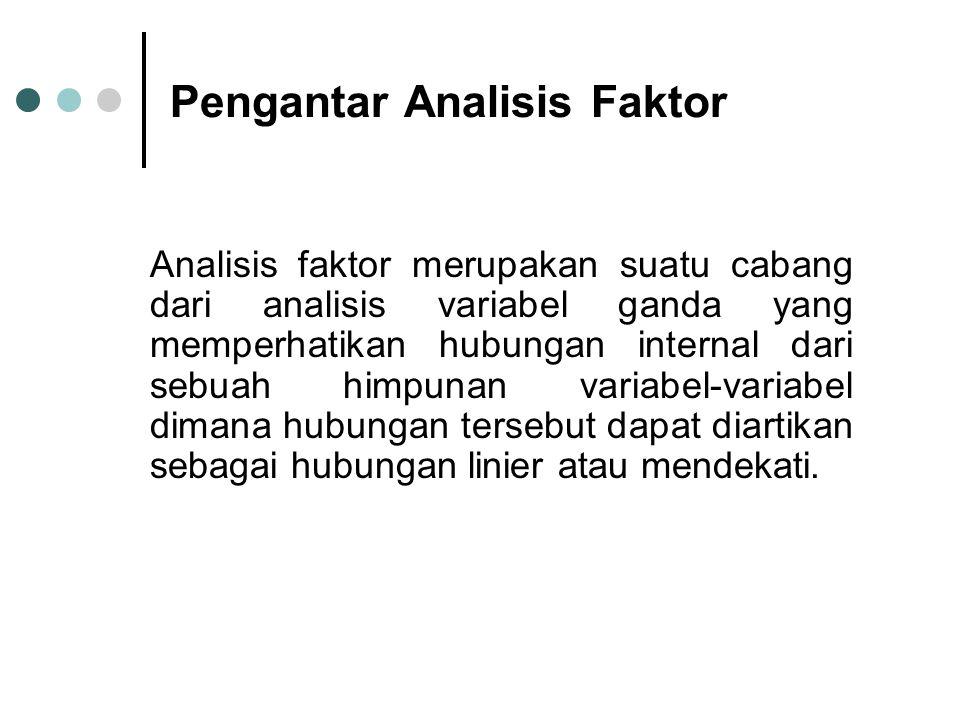 Analisis Faktor dengan SPSS STEPS 2, Open data lagi dan klik Analyze --- Data --- Reduction --- Factor..