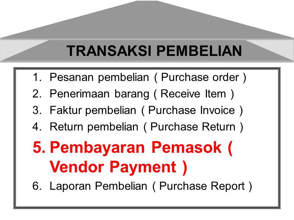Tanggal 31-3-207 dibayar utang kepada PT.IndoFarma terhadap Purchase Invoice Nomor PI.08.07.004 senilai Rp 50.000.000 dengan rekening BCA nomor Cek B.2525 5.Pembayaran Utang Rupiah