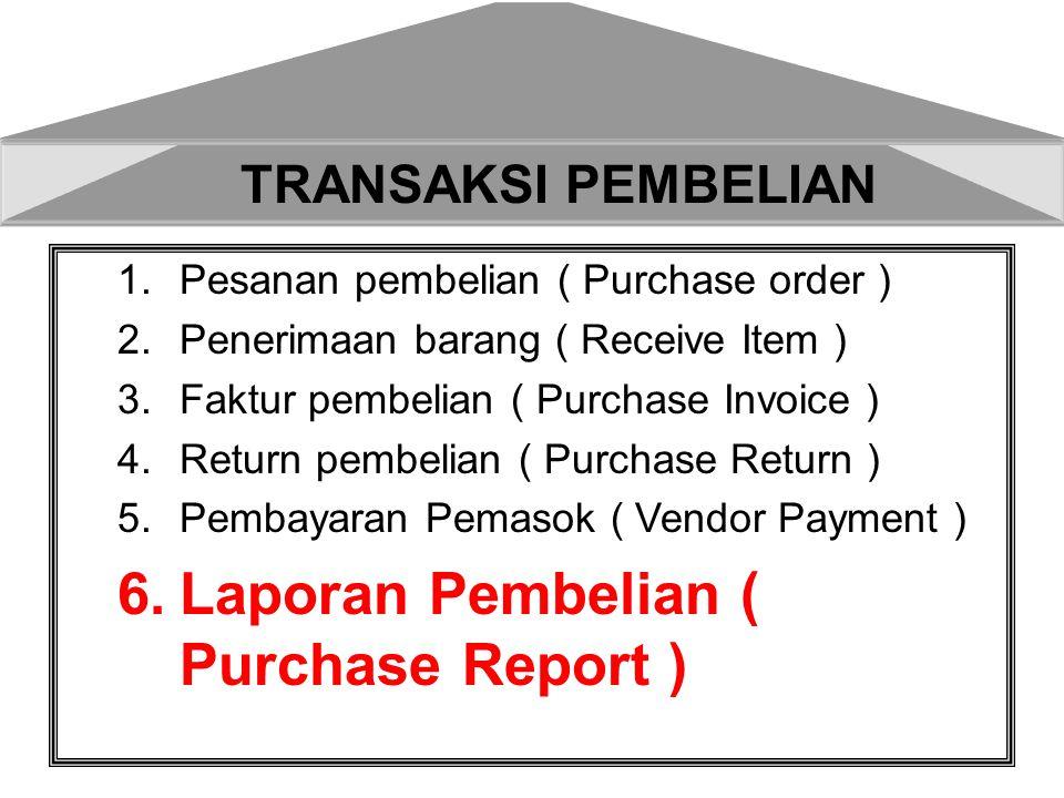 Laporan Pembelian dapat dilihat dari beberapa kebutuhan mulai dari laporan pembelian secara detail,laporan pembelian berdasarkan Vendor,berdasarkan tanggal,terdapat 29 versi untuk melihat laporan pembelian.