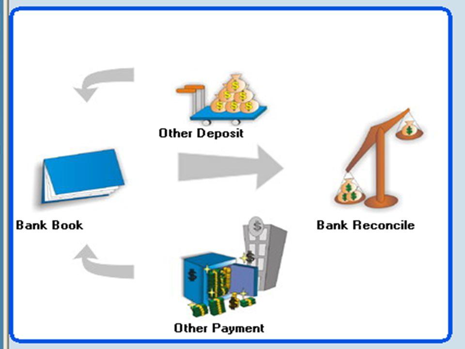TRANSAKSI CASH BANK 1.Penerimaan lainnya ( Other Depost ) 2.Pengeluaran lainnya ( Other Payment ) 3.Rekonsiliasi bank 4.Laporan kas bank