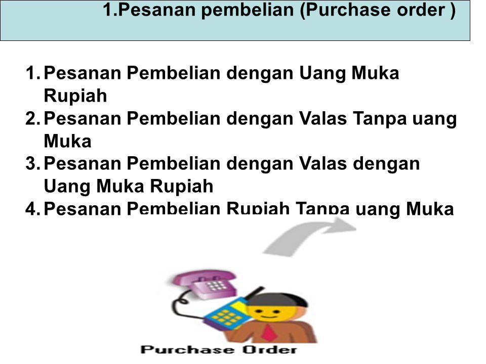A.Pesanan Pembelian dengan Uang Muka Rupiah Tgl 2 Juli 2008 memesan barang dagang dengan Nomor PO.08.07.001 kepada PT.Sakafarma Untuk pesanan barang tersebut perusahaan membayar uang muka secara tunai Rp 5.000.000