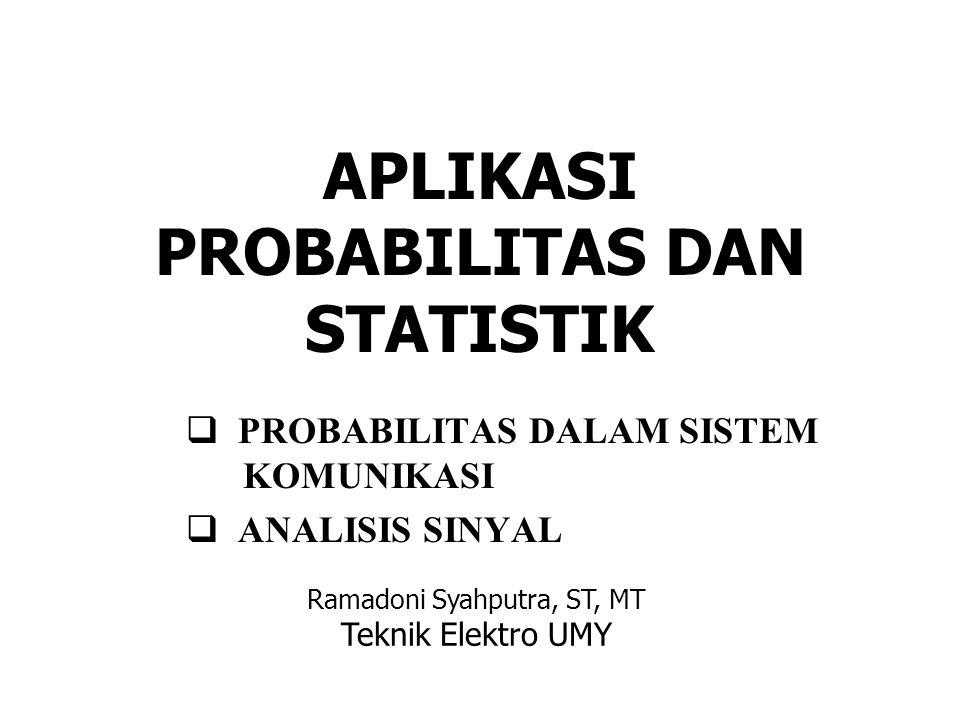 PROBABILITAS DALAM SISTEM KOMUNIKASI P(r 0 |m 0 ) = probabilitas bahwa m 0 dikirim maka r 0 diterima, P(r 1 |m 0 ) = probabilitas bahwa m 0 dikirim maka r 1 diterima, P(r 0 |m 1 ) = probabilitas bahwa m 1 dikirim maka r 0 diterima, P(r 1 |m 1 ) = probabilitas bahwa m 1 dikirim maka r 1 diterima,