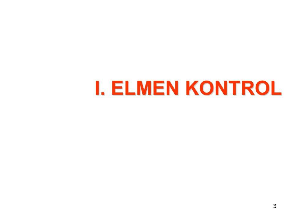 3 I. ELMEN KONTROL