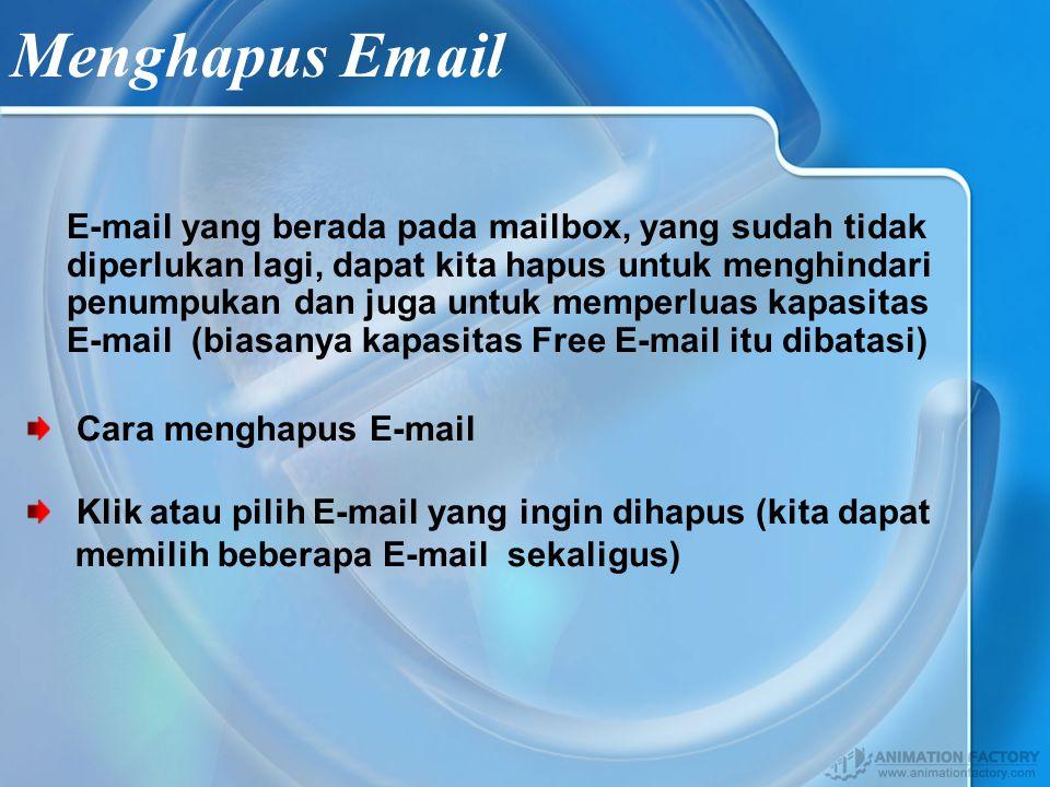 Mengirim Email Klik Compose Apabila anda ingin mengirim email anda dapat mengisi kolom yang tersedia yaitu : To : Alamat email yang dituju Cc : Alamat email lain BCc : Alamat yang lain lagi Subject : Hal Surat / Judul Surat