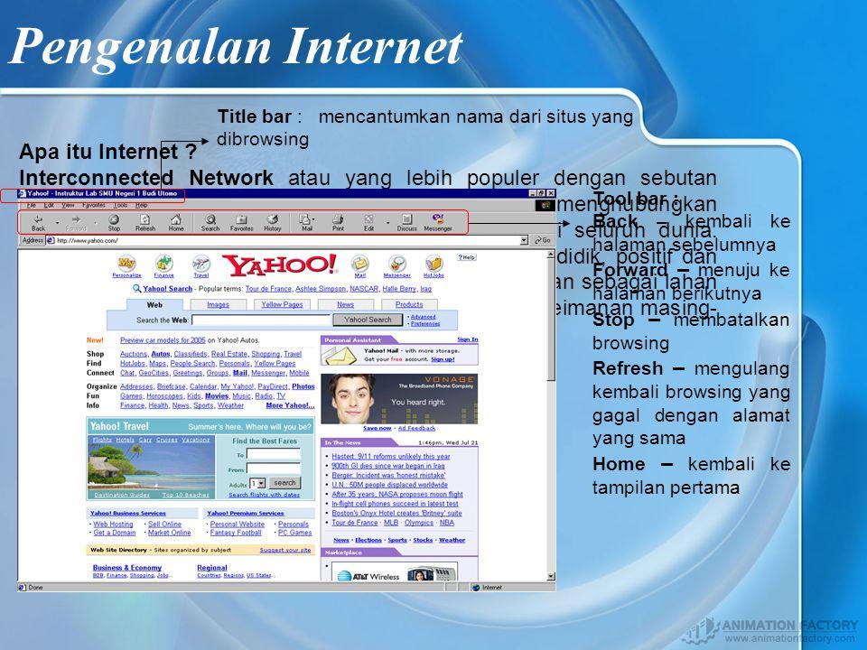 Mengenal Tampilan Internet Explorer