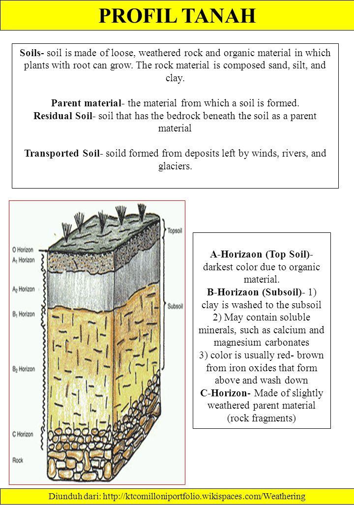 PROFIL TANAH Diunduh dari: http://ag.arizona.edu/pubs/garden/mg/soils/soils.html.