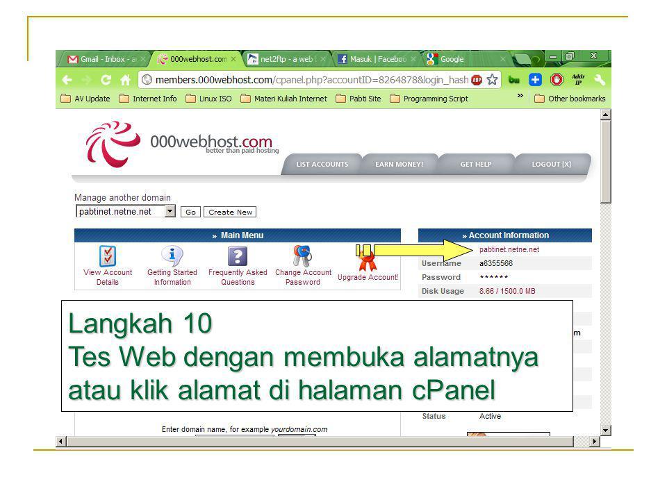 Buka Alamat Website Anda