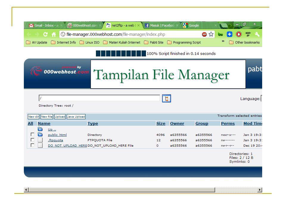 Langkah 4 * Perhatikan Folder (pastikan di upload ke folder public_html) * Kemudian Klik Tombol Upload