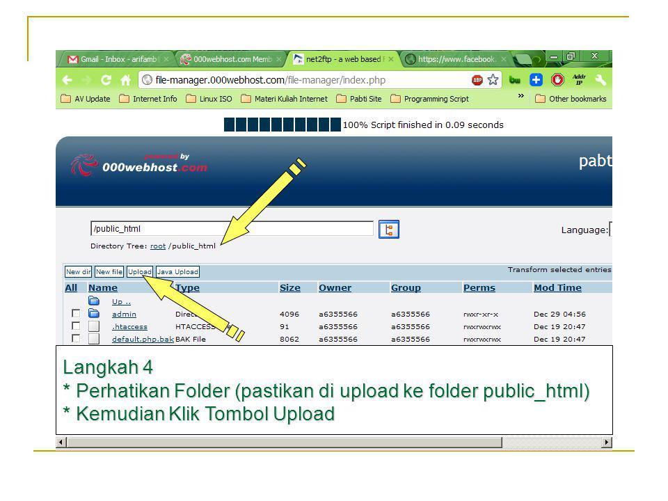 Langkah 5 Pilih Upload untuk archive (kemudian klik tombol chose file) Max Ukuran per file 5 MB