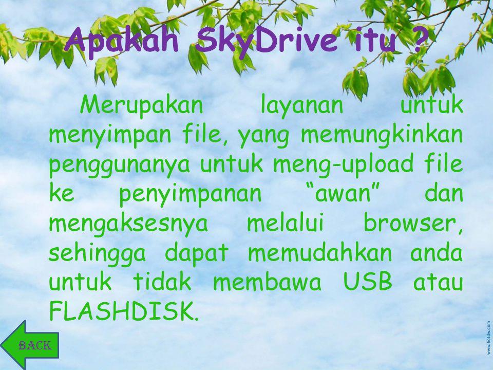 Keuntungan SkyDrive.