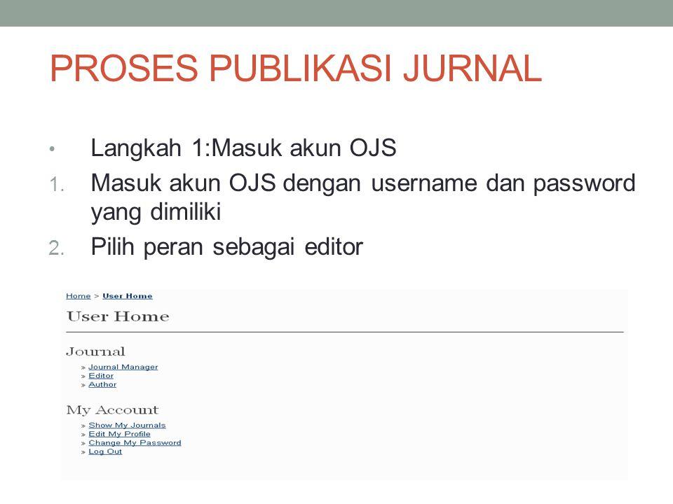 Langkah 1:Masuk akun OJS 1.Masuk akun OJS dengan username dan password yang dimiliki 2.