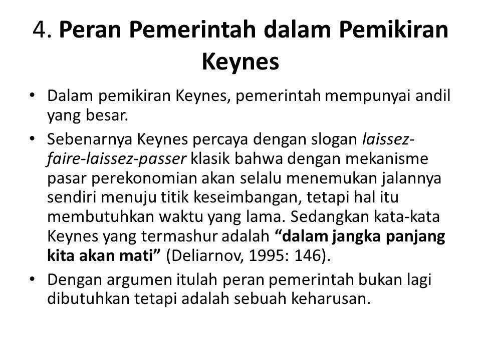 (Sastradipoera, 2007: 247).Keynes dan pengikutnya berpendapat bahwa: 1.