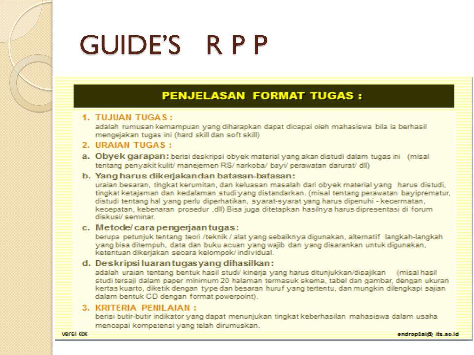 GUIDE'S R P P