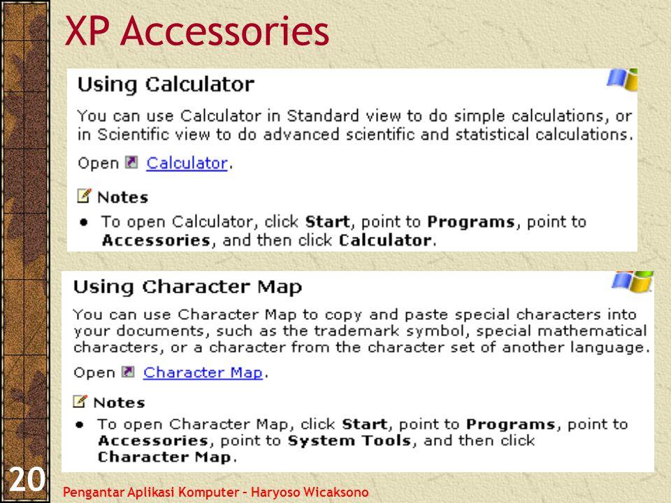 Pengantar Aplikasi Komputer – Haryoso Wicaksono 20 XP Accessories