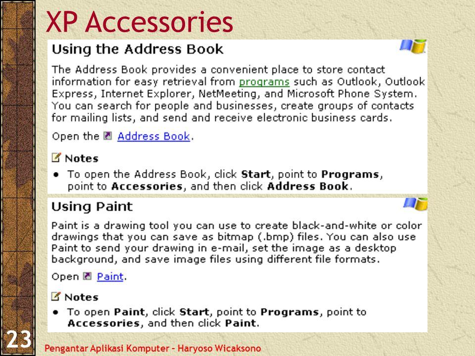 Pengantar Aplikasi Komputer – Haryoso Wicaksono 23 XP Accessories