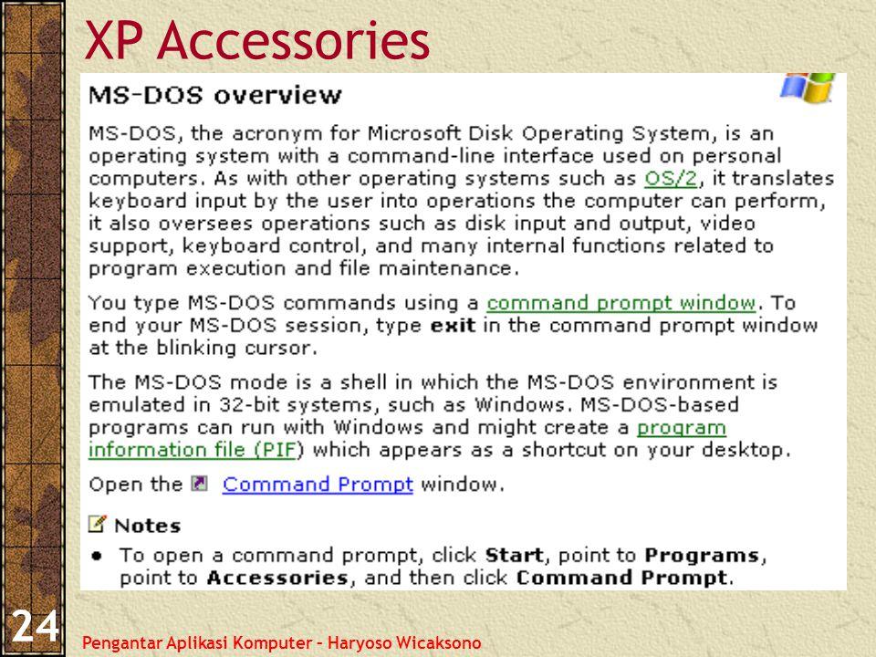 Pengantar Aplikasi Komputer – Haryoso Wicaksono 24 XP Accessories