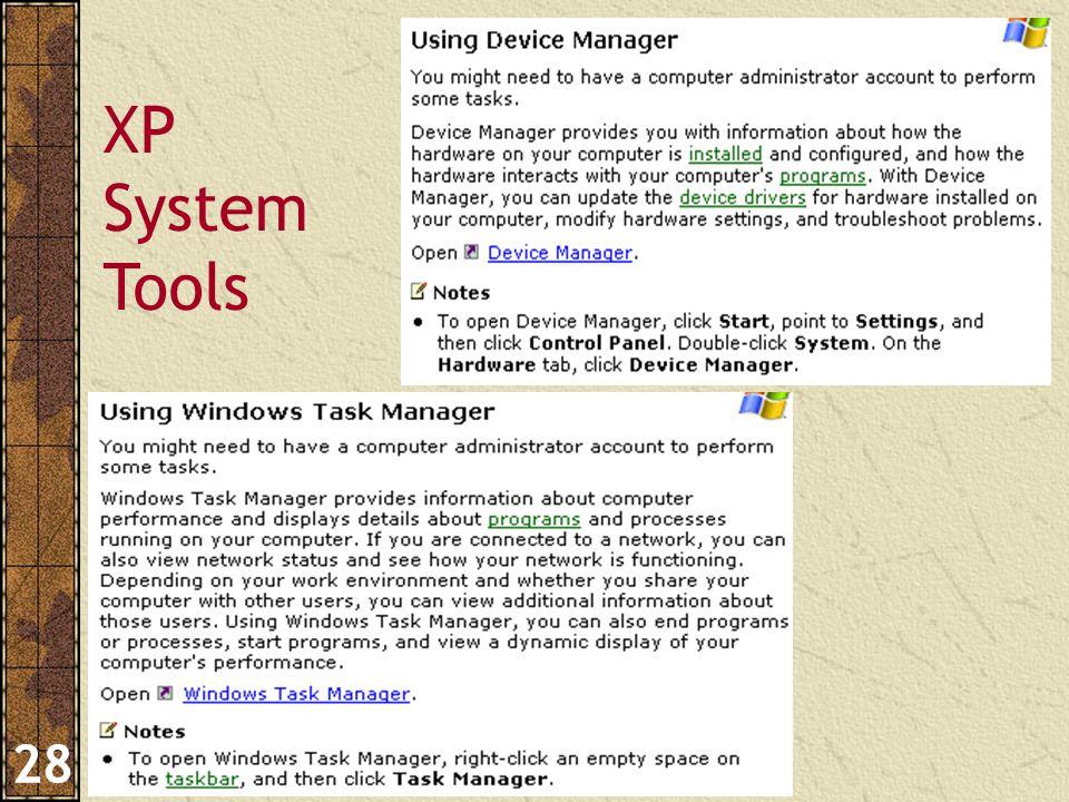 Pengantar Aplikasi Komputer – Haryoso Wicaksono 28 XP System Tools