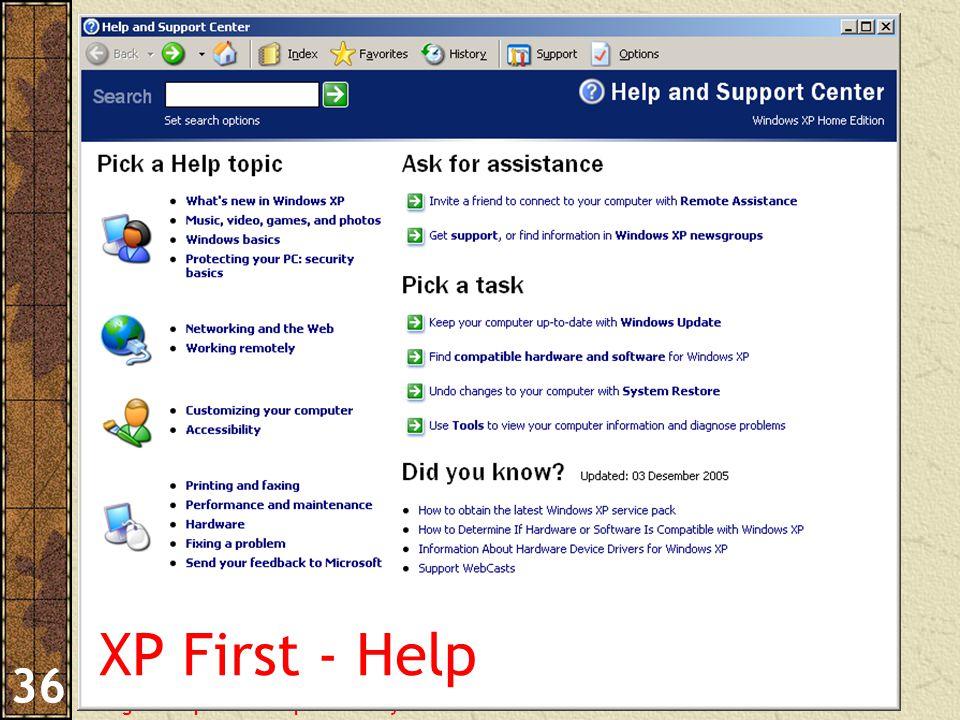 Pengantar Aplikasi Komputer – Haryoso Wicaksono 36 XP First - Help