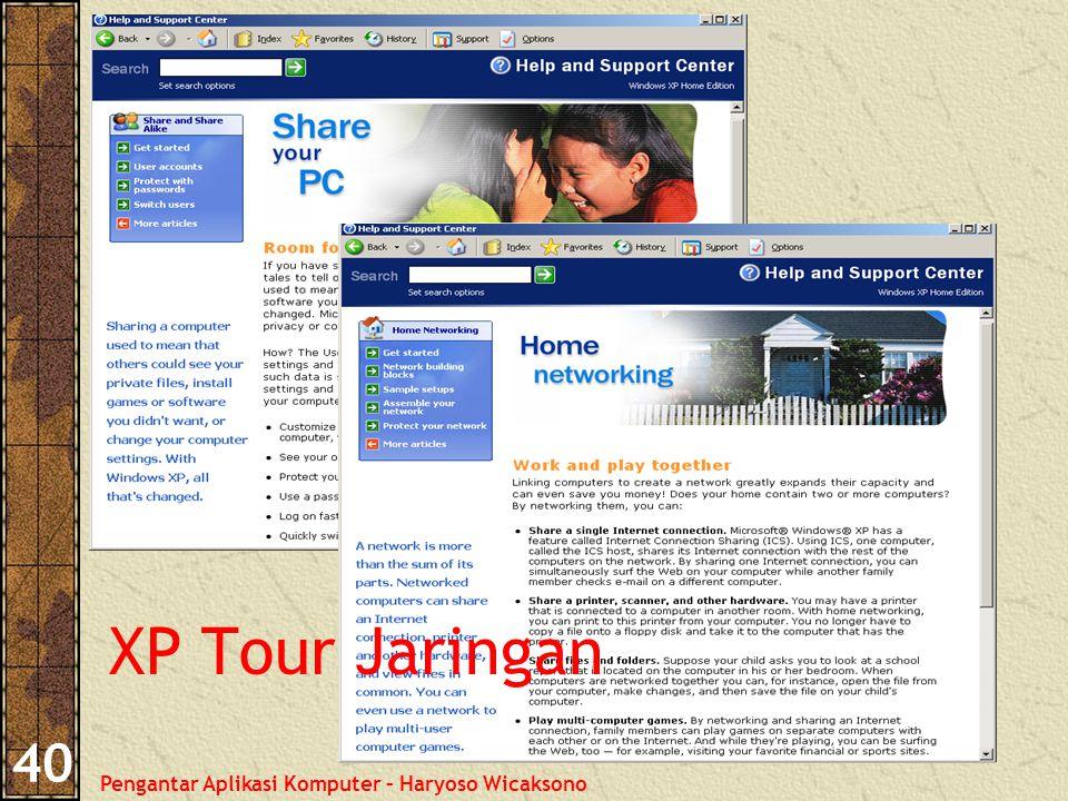 Pengantar Aplikasi Komputer – Haryoso Wicaksono 40 XP Tour Jaringan