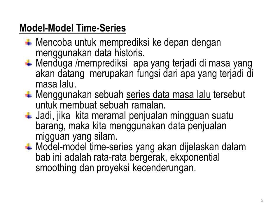 Model-Model Time-Series Mencoba untuk memprediksi ke depan dengan menggunakan data historis.