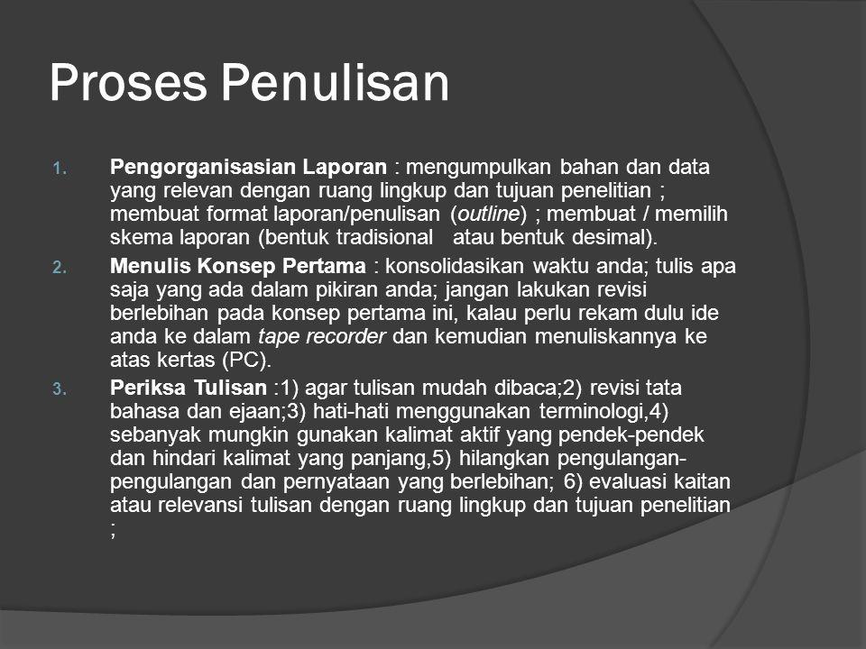 Proses Penulisan 1.