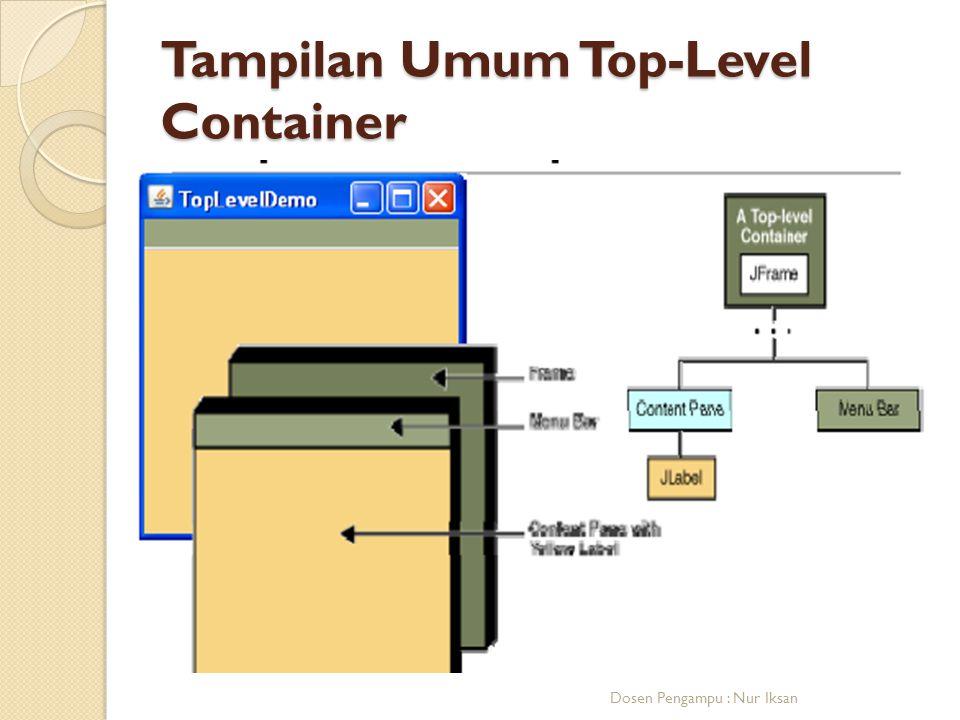 Tampilan Umum Top-Level Container Dosen Pengampu : Nur Iksan