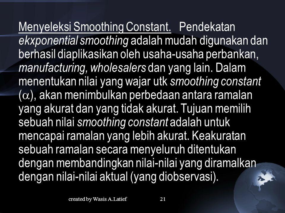 Menyeleksi Smoothing Constant.